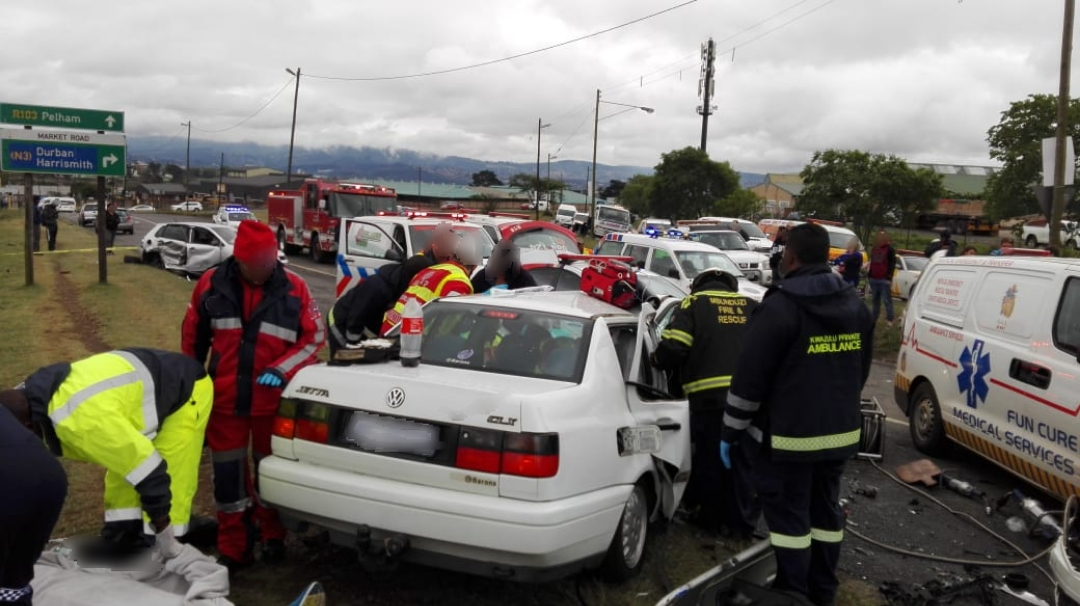 f335383bec 5 Injured in Pietermaritzburg crash - Arrive Alive