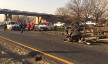 Two killed in bakkie rollover on the R57 in Sasolburg, Free State.