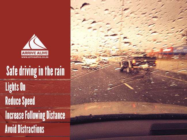 Different road users and safety in heavy rains