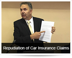 Repudiation of the Car Insurance Claim and Crash Investigation