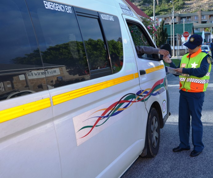 Roadside checking by traffic law enforcement officers will take place