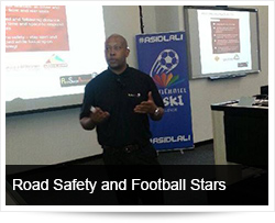 Road Safety Awareness among our young Football Stars
