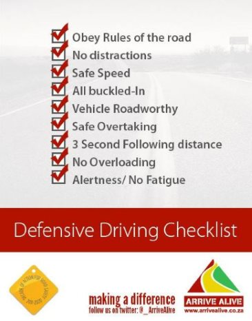 Defensive Driving Checklist