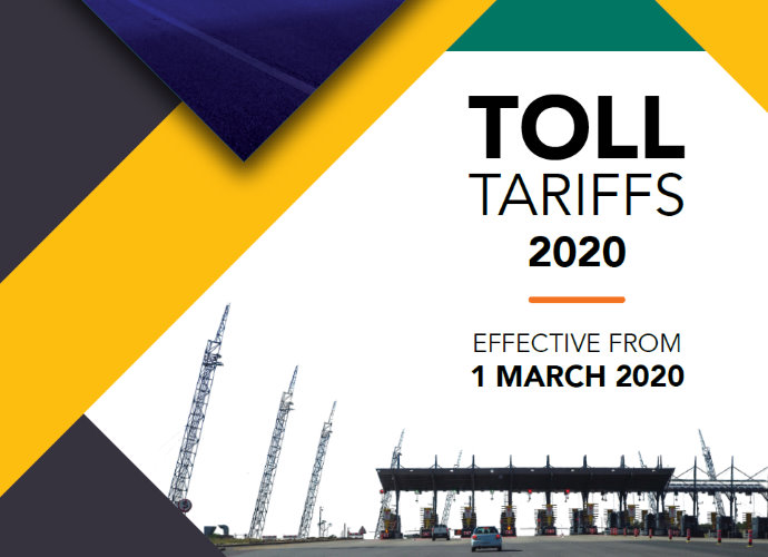 Toll tariff increase effective 01 March 2020