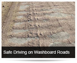 Safe Driving on Corrugated and Washboard Roads