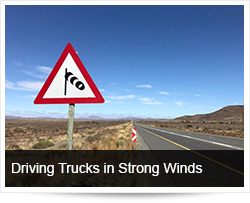 Safe Driving with Trucks in Strong Winds