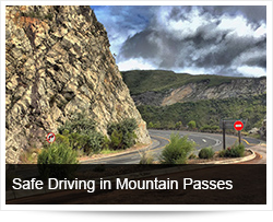 Safe Driving with Trucks in the Mountains