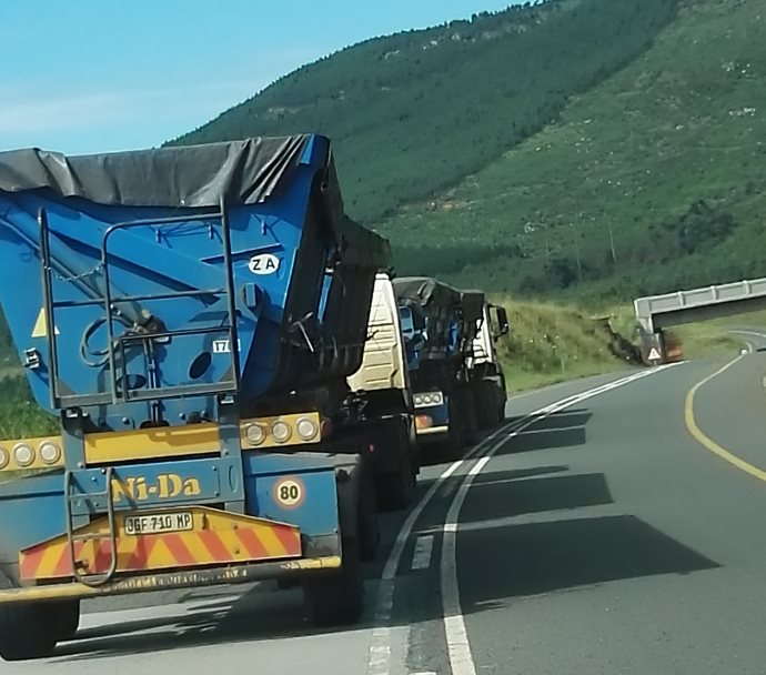 What are the most important driving skills required when driving in the Mountains with a truck