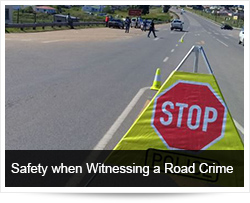 Safety when Witnessing and Reporting a Road Crime