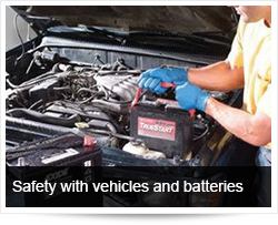 Safety with Vehicle and Car Batteries