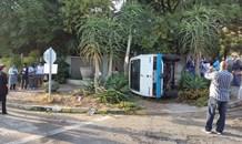 Ten children injured after taxi collision.