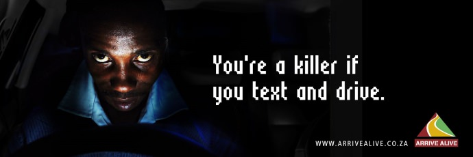 You're a killer if you text and drive