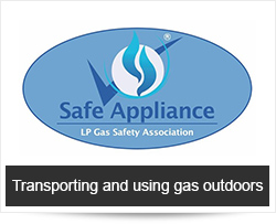 Transporting and using gas outdoors