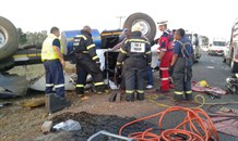 Truck driver dies after sustaining multiple severe injuries in collision at Carletonville