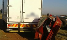 Truck and car collide injuring four, Carletonville.