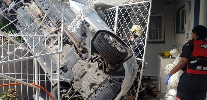 Two women were trapped in their vehicle when it crashed into a home in Verulam, KwaZulu-Natal