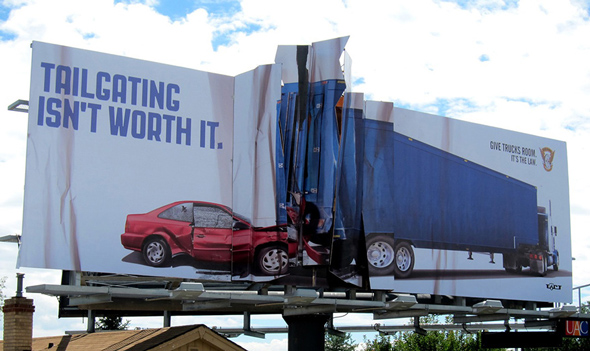 billboard advert for tailgating
