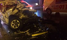 1 man died after rear ending a truck, N1 North in Midrand