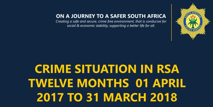 Crime Situation in South Africa 1 April 2016 - 31 March 2017