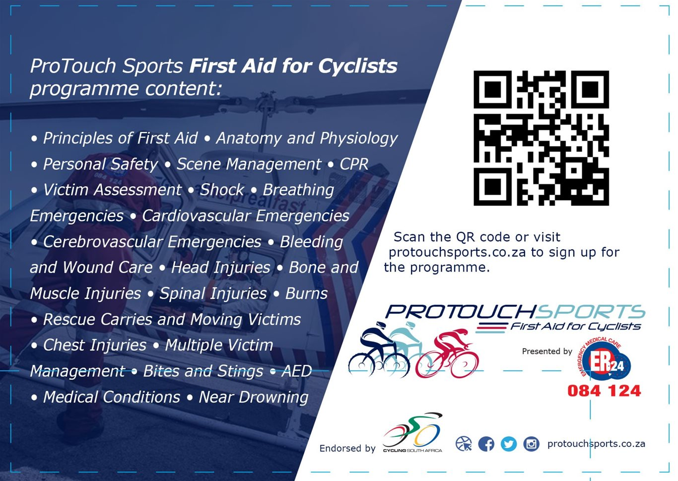 ER24 and ProTouch Sports launch a First Aid Training Programme for ...