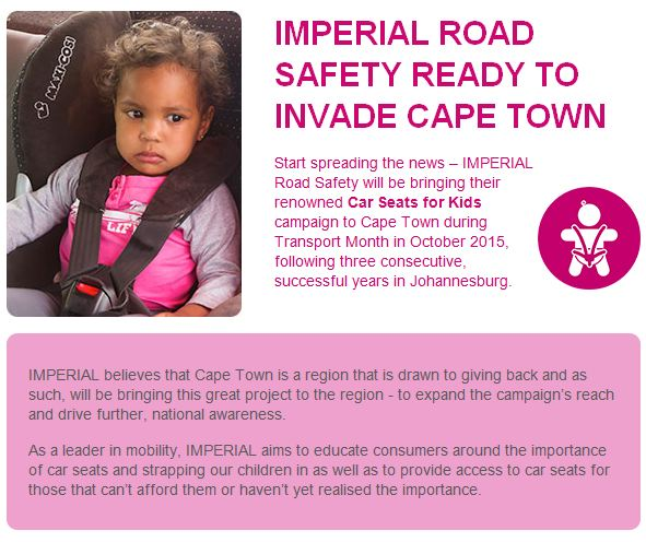 MEC Donald Grant To Donate Used Car Seat Imperial Seats For Kids Campaign