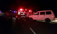 Seven injured in collision on the Kamagugu road in Nelspruit.