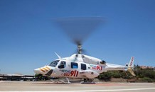 Farmworker airlifted to hospital after falling off a horse on a farm in Delmas
