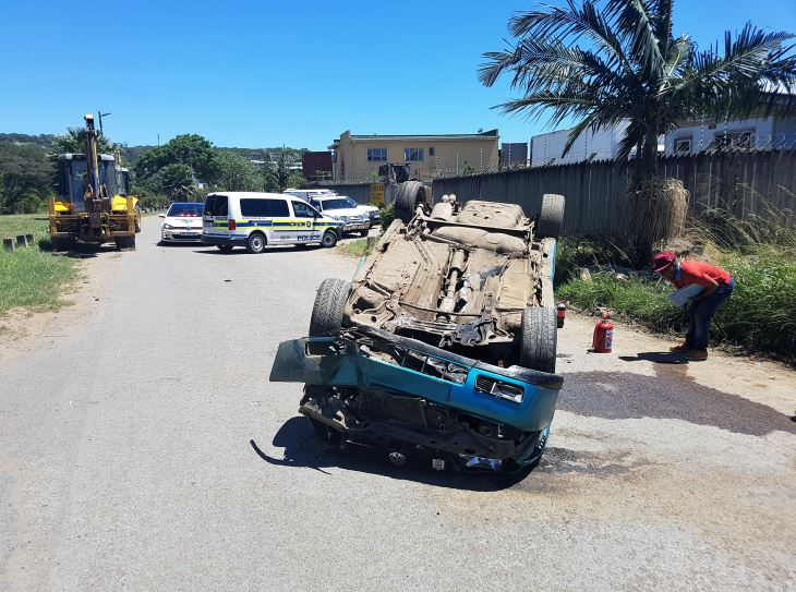 Four Injured In Rollover Behind The Sasol Garage In Booth Road Cato