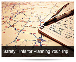 Road Safety Hints for Planning your Trip