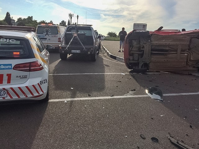 One injured in a collision between two vehicles, Sandton