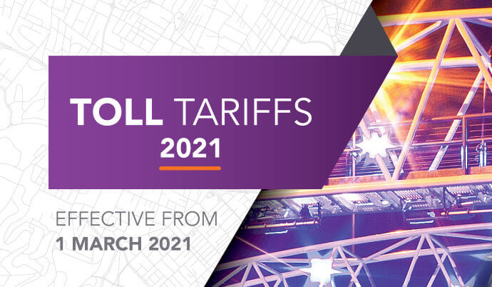 Toll tariff increase effective 01 March 2021