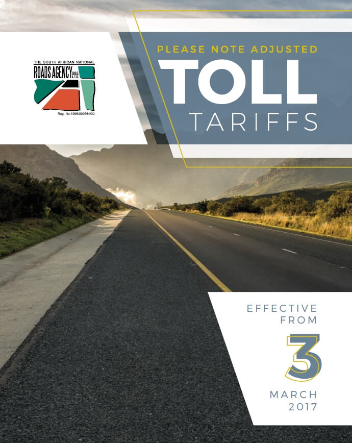 Toll tarrif increase effective 3 March 2017