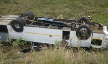 61 Children injured when bus overturned on the R603 near Adams Mission  in Kwa- Zulu Natal.
