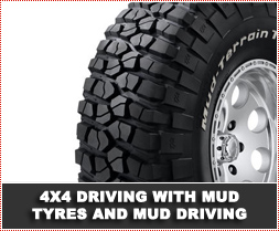4x4 Driving with Mud Tyres and Mud Driving