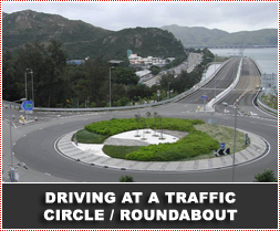 Driving around Traffic Circle / Roundabout - Arrive Alive