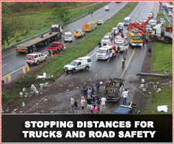 Stopping Distances for Trucks and Road Safety