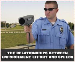The relationships between enforcement effort speeds