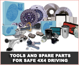 Tools and Spare Parts for Safe 4x4 Driving