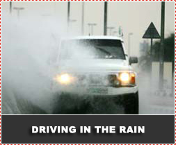 driving test in torrential rain