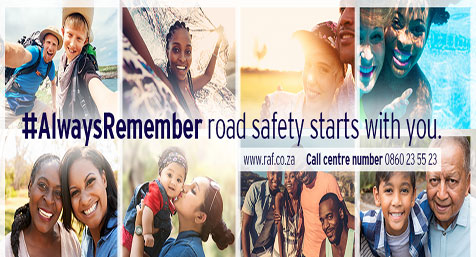 Road Accident Fund Always Remember Road Safety Starts With You slider image
